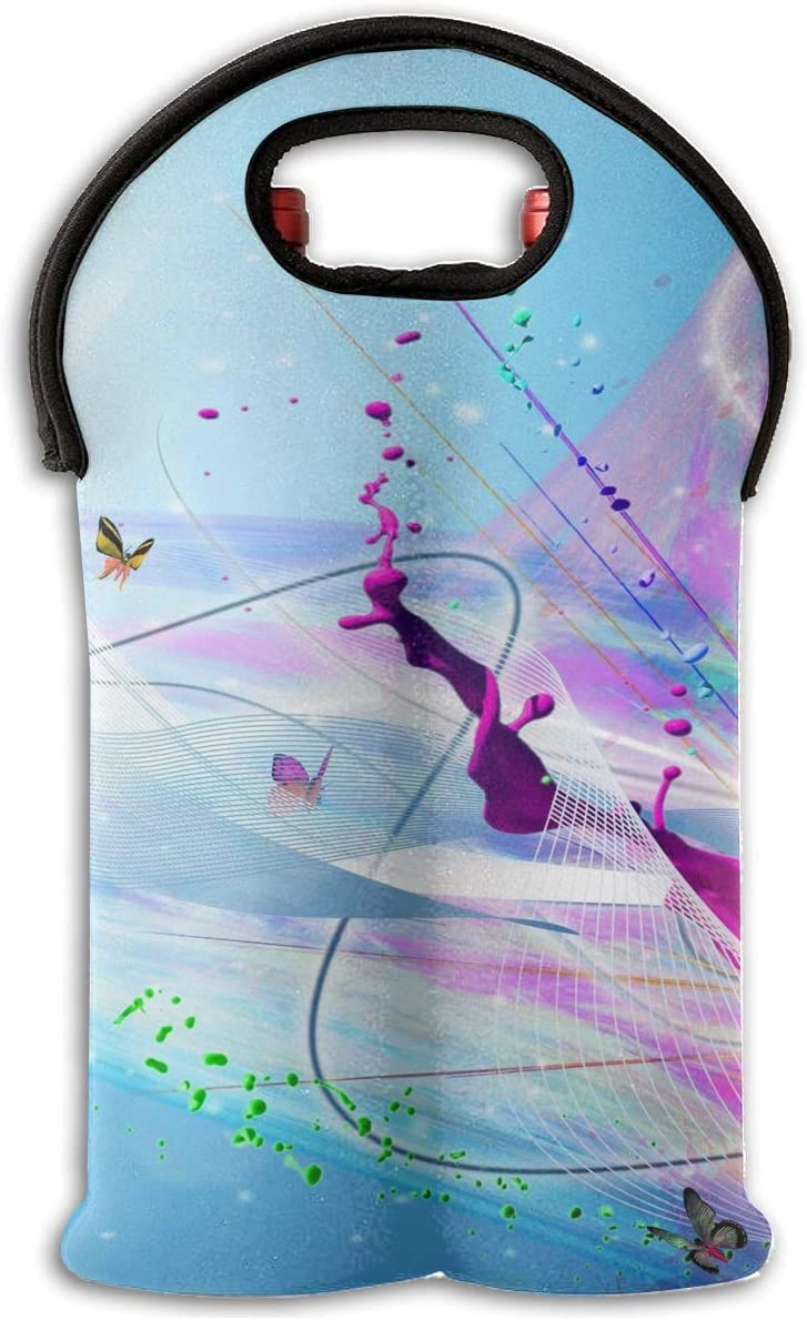 Amazon Com Pin 1 2 Bottle Wine Tote Carrier Artistic Paint Splash Purple Butterflies Iphone 6 Plus Hd Wallpaper Wine Bag Cover Sets Decorations Bag Nsulated Neoprene Wine Carrier Tote Bag Home Kitchen