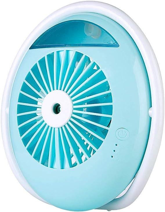 JiaMeng Ventilador Mini Ventilador USB Silencioso, humidificación ...