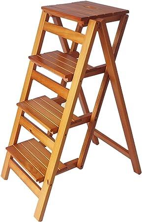 Jia He Taburete de plástico para niños casa de Madera Maciza Escalera multifunción Escalera Plegable Escalera Cambio heces Zapato Banco de Ascenso por Escalera de Mano (Size : Four Floors): Amazon.es: Hogar