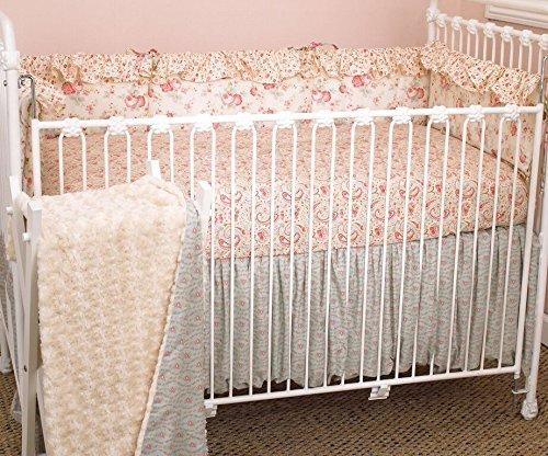 Cotton Tale Designs 4 Piece Crib Bedding Set, Tea -