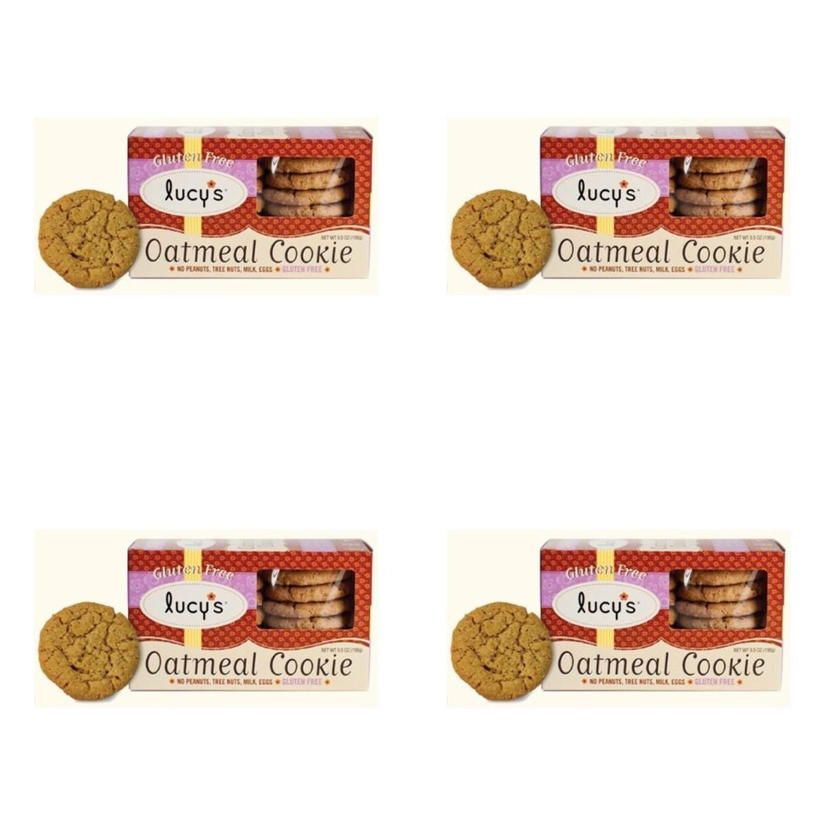(4 PACK) - Lucy's Gluten Free Oatmeal Cookies| 156 g |4 PACK - SUPER SAVER - SAVE MONEY
