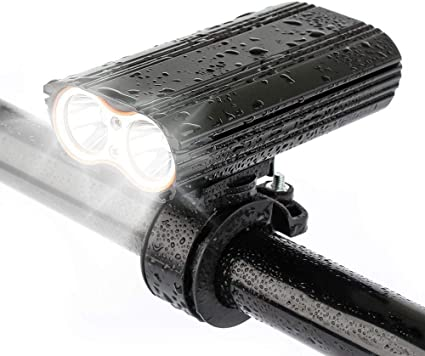 Slowoi V/élo Phares Double T6 Phares en Surbrillance USB De Charge Phares en Aluminium De Charge Lampe V/élo Lumi/ères