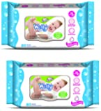 Wetty Premium Wet Wipes - Fresh (80 + 80 Count)