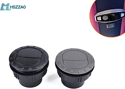 2×Vent Air Outlet Rotating Round Ceiling for Car RV ATV A//C Air Outlet 60mm Hole