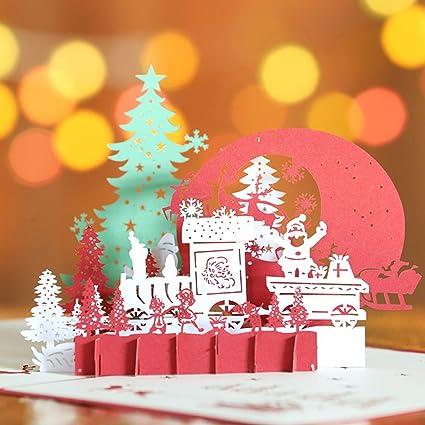 Immagini Cartoline Di Natale.Tomorrow Sun Shine Cartoline Di Natale Pop Up 3d Rosso