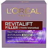 L'Oréal Paris Revitalift Filler Crema Viso Antirughe Rivolumizzante con Acido Ialuronico Concentrato, 50 ml