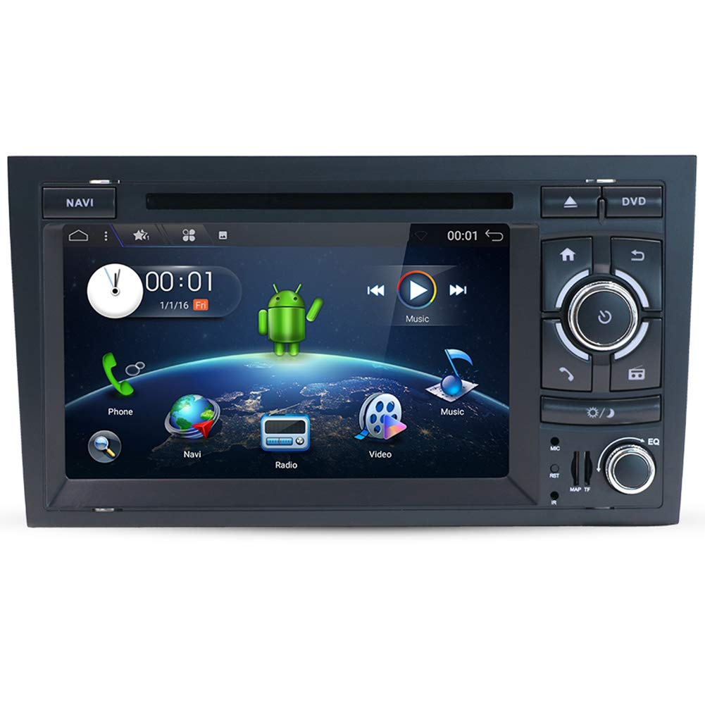Android 8 1 Car Stereo Audio with GPS Navigation System for Audi A4  2003-2011, YUNTX in Dash 2 Din Vehicle Radio 7 Inch Muti-Touch Capacitive  Screen