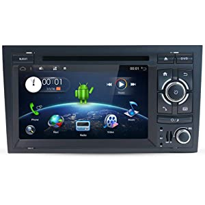 Android 8.1 Car Stereo Audio with GPS Navigation System for Audi A4 2003-2011, YUNTX in Dash 2 Din Vehicle Radio 7 Inch Muti-Touch Capacitive Screen with Free Camera (Android 8.1)