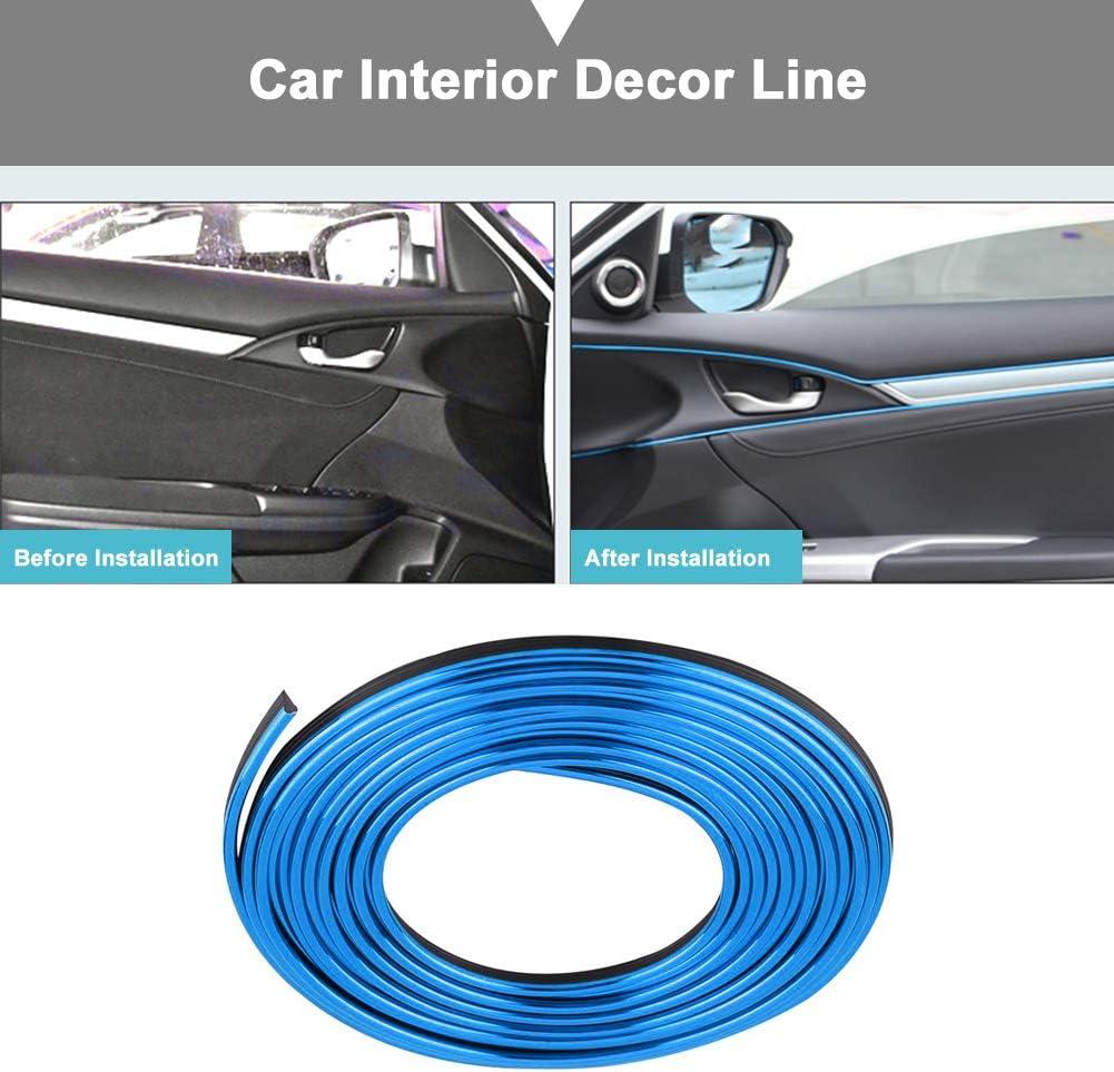 Keenso 5m Auto Innenformungs Zier Streifen Linie Aufkleber 3D DIY Nachr/üstungs-dekorativer flexibler Streifen Blau