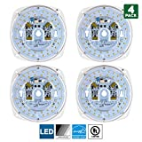 Sunlite LED Retrofit Light Engine, 6-Inch, 5000K Super White, 23 Watt, Dimmable, Flush Ceiling Fixture LED Upgrade Panel, Energy Star Compliant, Commercial Grade, 90 CRI, 4-Pack