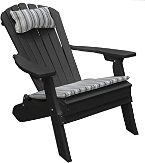 product image for Poly Folding and Reclining Fanback Adirondack Chair - Black