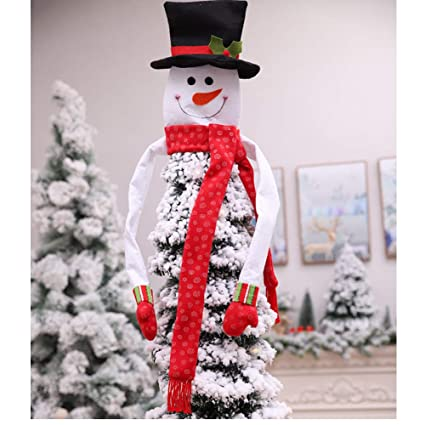 257af7d9c2f370 Large Snowman Top Hat Christmas Tree Topper Decor Holiday Winter Wonderland Decoration  Christmas Snowman Top of