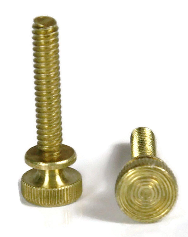 Brass Flared-Collar Knurled-Head Thumb Screw Thread Size #8-32 FastenerParts