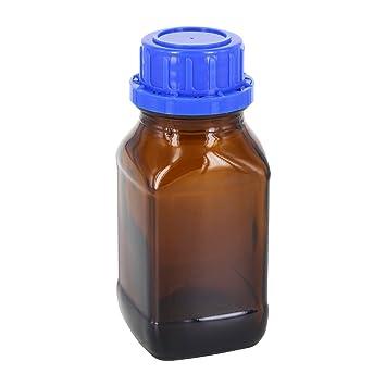 24 x 100 ml químicos Botella/Cuello Cuadrado marrón cristal con cuadrícula de corona con