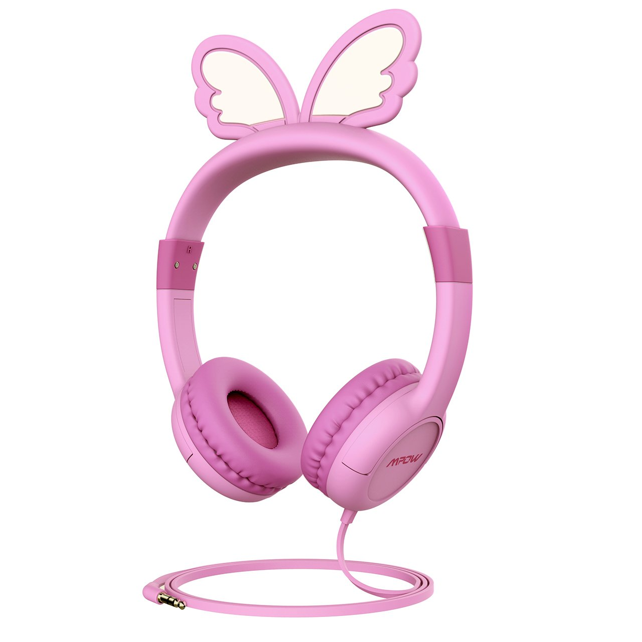 Mpow Kids Headphones with 85dB Volume Limited Hearing Protection, Music Sharing Function, Wired On-Ear Headsets, Compatible with iPad, Smartphones, Laptops, Gifts for Children by Mpow
