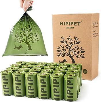 HIPIPET 360 Biodegradable Dog Poop Bags Waste Bag Holder for Dogs Doggie Cat Pet
