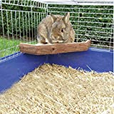 B&P Natural Wooden Platform Jumps with Bark - for Rabbit Chinchilla Guinea pigs Can be chewed