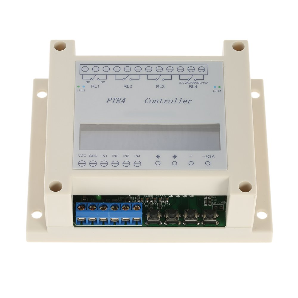 KKmoon DC6-40V 4-Channel Programmable Digital Time Relay Timer Controller Delay Switch Module Independent Timing Cycle LCD Display