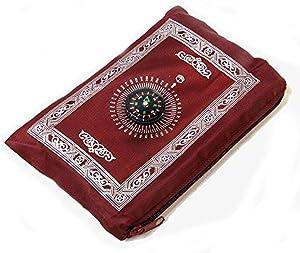 Muslim Prayer Carpet, Muslim Travel Prayer Mat, Travel Compass Islamic Prayer Rug with Compass, Islamic Prayer Rug, Portable Muslim Prayer Blanket, Muslim Penguin Bathroom Decor