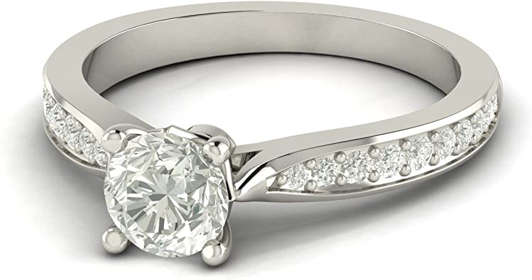 bague solitaire diamant design