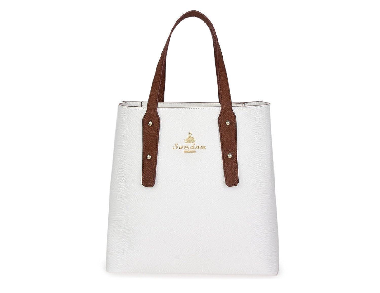 SWEEDOM Women White Womanhood Tote Shoulder Top-hanlde Handbags