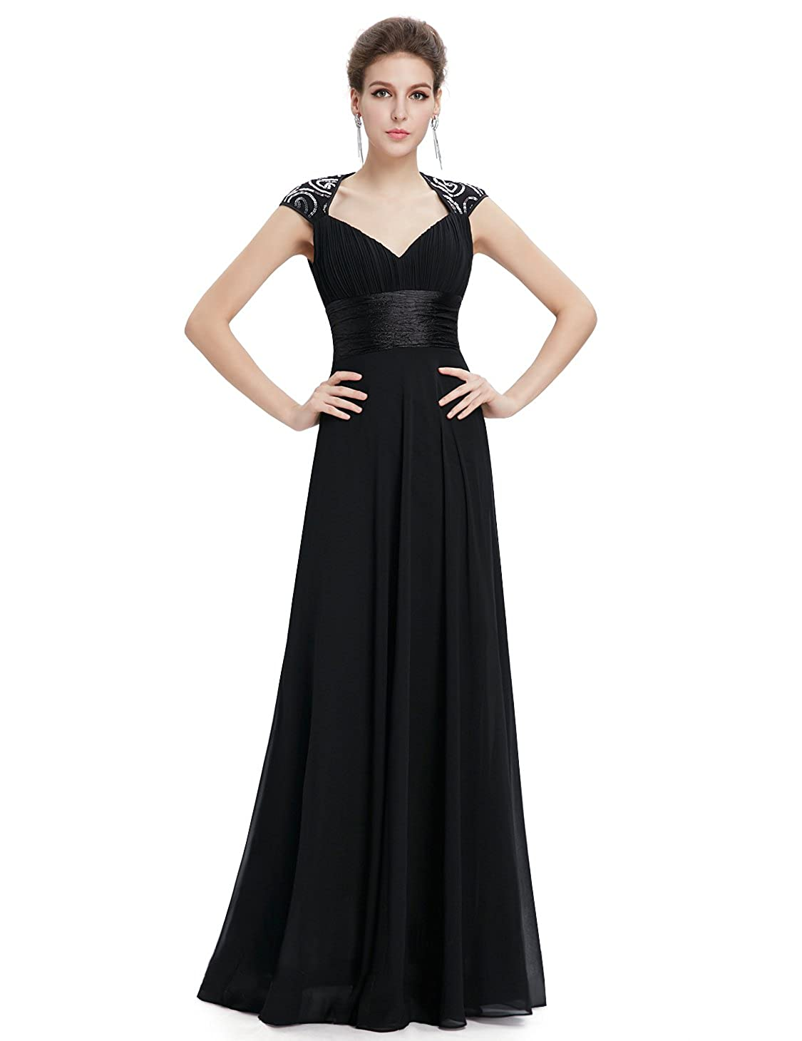 475545d8b1 Ever-Pretty Chiffon Sexy V-Neck Ruched Empire Line Evening Dress 09672