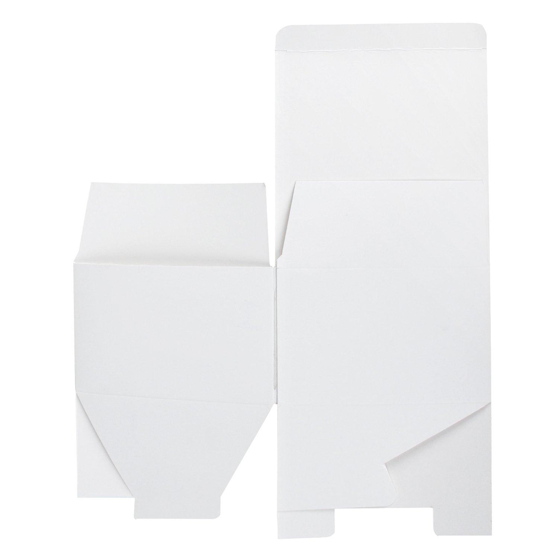 20 Pack 15.5X15.5X10.5 cm Geschenkkartons Mit Deckel In Loser Sch/üttung Kraft RUSPEPA Recyclingkarton-Geschenkboxen
