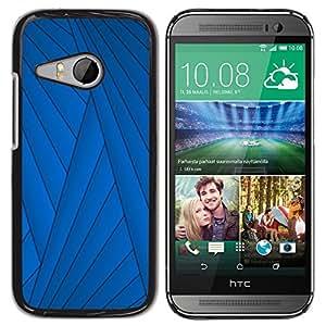 TopCaseStore / la caja del caucho duro de la cubierta de protección de la piel - Lines Abstract Deep Dark - HTC ONE MINI 2 / M8 MINI