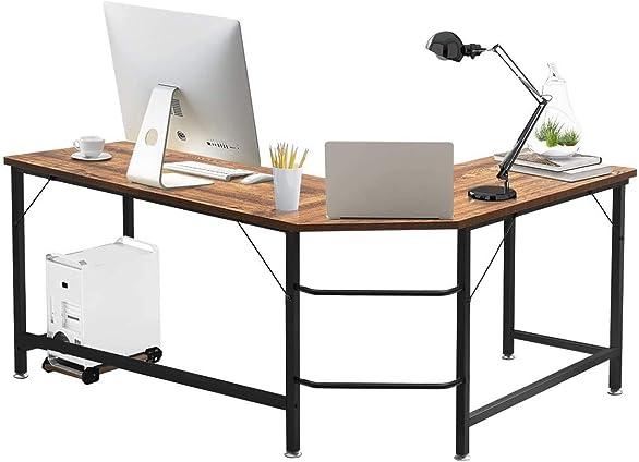 Best modern office desk: Tangkula L-Shaped Corner Computer Desk