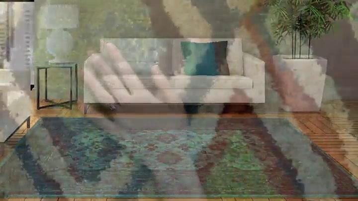 """Orian Rugs Spoleto Monica Area Rug, 7'10"""" x 10'10"""", Aqua"""