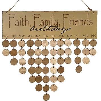 Kalender, Planer Und Karten Familie Freunde Worte Hängen Diy Holz Kalender Kalendar Erinnerung Bord Plaque Home Decor Anhänger Bunte Zu Verkaufen
