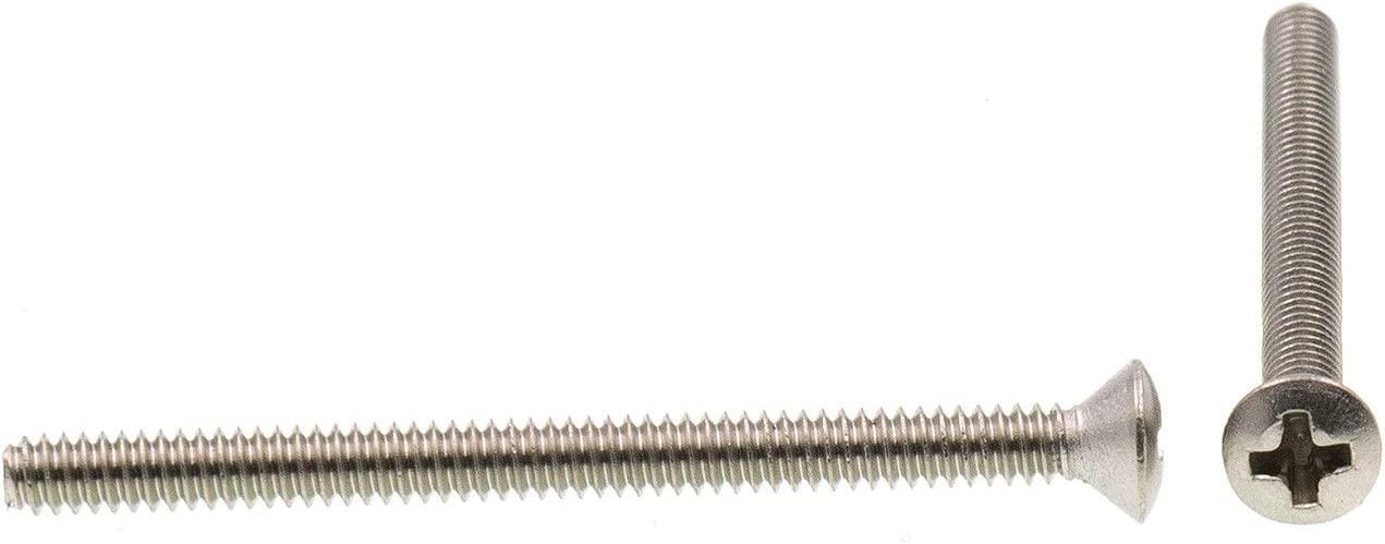 Oval Head Phillips 4-40 X 1 in Prime-Line 9010371 Machine Screw Pack of 25 Grade 18-8 Stainless Steel