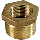 Supply Giant CSCV1142 1-1/4'' Male x 1 Inch Female NPT Lead Free Bushing, Fitting with Hexagonal Head, Brass…