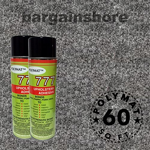 16ft x 3.75ft + 2 CANS (777) GLUE ADHESIVE CHARCOAL BACKED HUNTING GEAR Gun Rifle Case Safe Cabinet liner fabric