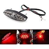 テールランプ ブレーキランプ LED バイク用 汎用 12V DC レッド 高輝度 防震 防水