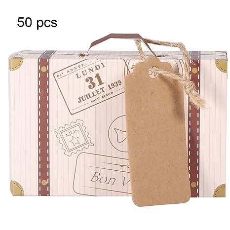 Amazon.com: VIFERR Caja de caramelos, mini maleta elegante ...