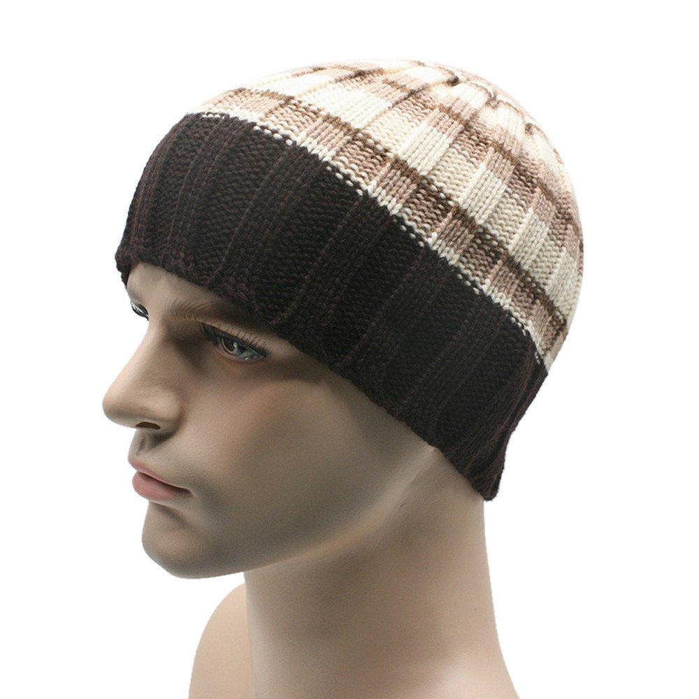 Women Men Beanie Hat Winter Unisex Good Elastic Knit Ski Crochet Slouch Cap Hip-Hop Hats (G)