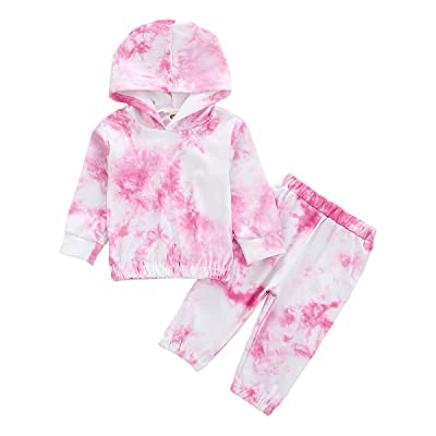 Kids Baby Girls Long Sleeve Tracksuit Casual Ruffle Hoodie Tops Pants Outfit Set