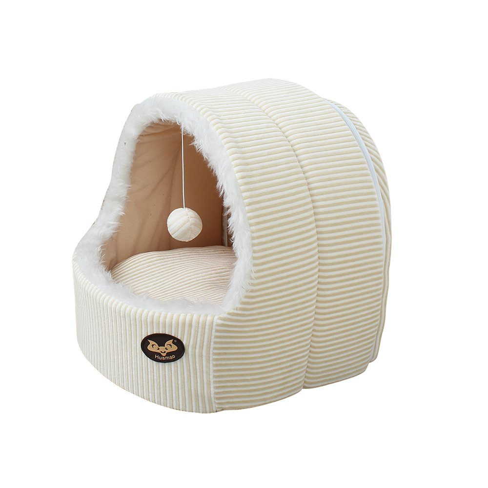 S House Style Kennel Puppy Cat Poodle Pome Soft Bed (S)