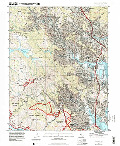 San Rafael CA topo map, 1:24000 scale, 7.5 X 7.5 Minute, Historical, 1995, updated 1999, 26.8 x 22 IN - - Corte Map Of Ca Madera