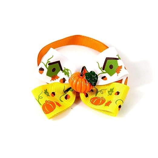 LouiseEvel215 Encantador Halloween Mascotas Gatos Perros Corbata ...