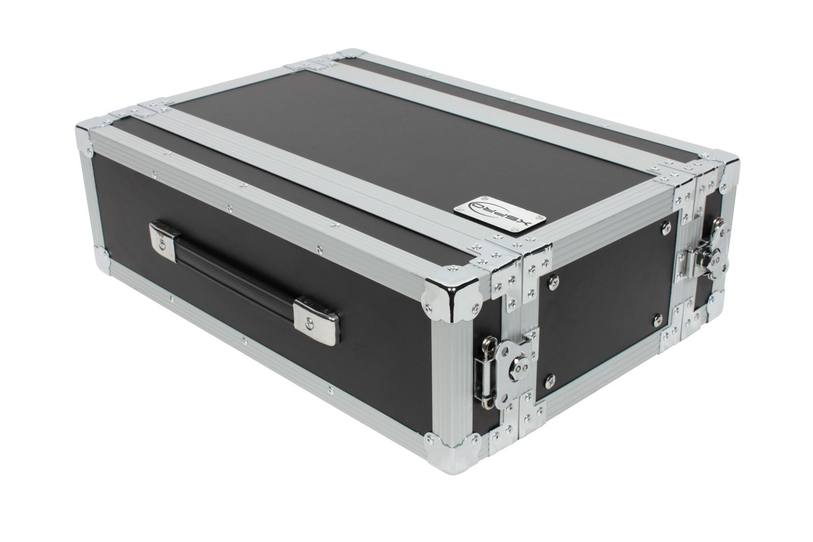 XSPRO XS3U-10 3 Space 3U ATA Effects Rack Flight Case Front and Back Rails - 19'' Wide by XSPRO