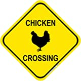 """Chicken Crossing Sign, 12""""x12"""", Includes Holes, 3M Engineer Grade Prismatic Sheeting, Highest Gauge Aluminum, Made in…"""