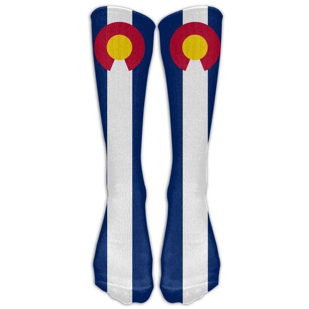 Sportsocks83 Mens USA Colorado State Flag Athletic Socks Shoe Size 6-10