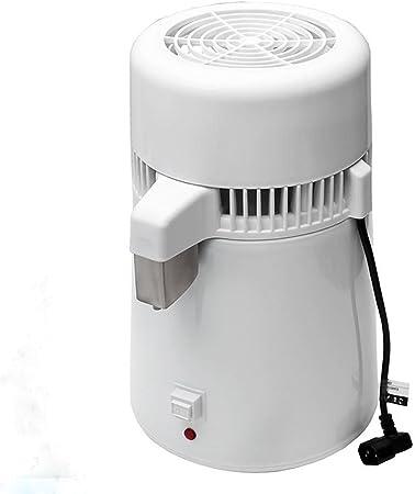 szmwl 4L pura agua Destilador Filtro Blanco 304 Acero inoxidable médica Dental destilada purificador de agua eléctrica destilación máquina 110 V nos enchufe – Un juego completo de Profesional casa esterilizador: Amazon.es: Hogar