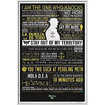 Amazoncom Breaking Bad Framed Tv Show Poster Typographic