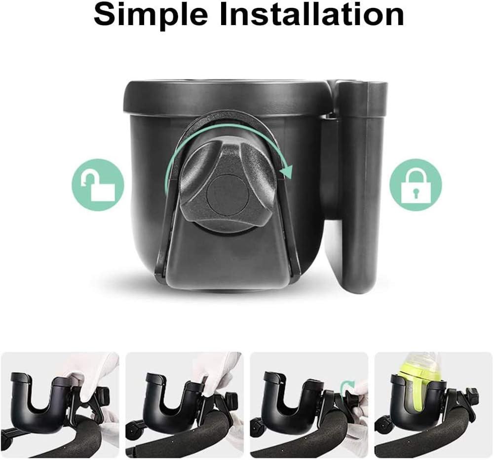 Portavasos Carrito Beb/é con una Gancho Universal Organizador de Botellas Clip de Caf/é Portabotellas para Silla de Paseo para Cochecitos y Bicicletas Portavasos para Cochecito