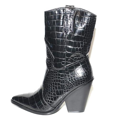Malu Shoes Tronchetti Donna camperos Texani a Punta con