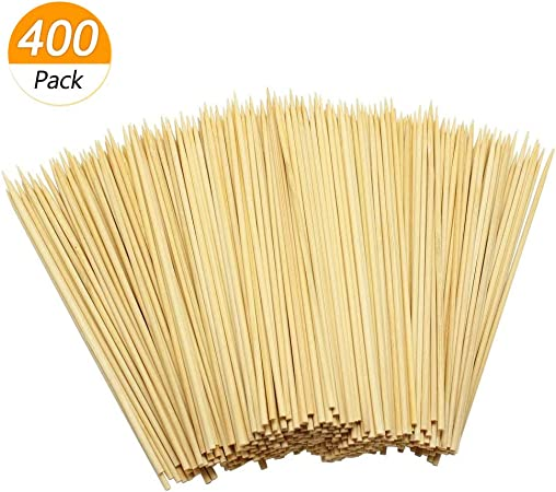 "FREE SHIPPING US ONLY USA SELLER  BAMBOO SKEWERS 8/"" 100"