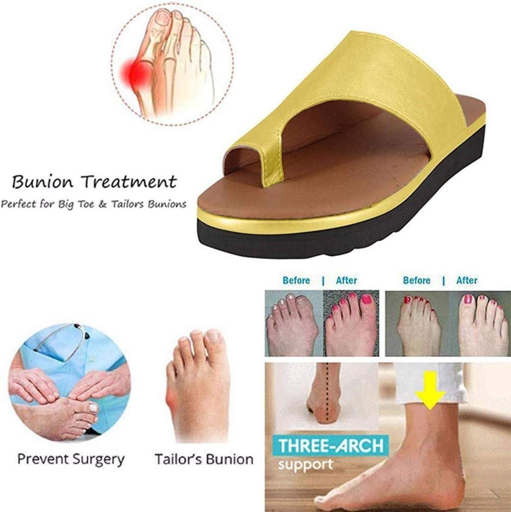 WSXZ Playa De Verano Zapatillas De Viaje Corrector De Juanetes Ortopédico para Mujeres Zapatos Ortopédicos de Corrección de pie de Dedo Gordo Corrector de Juanetes Ortopédi
